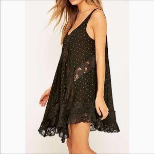 Free People she swings slip dress in black